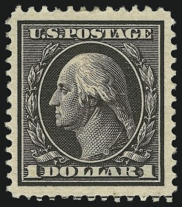 Sale Number 905, Lot Number 2396, 1908-09 Washington-Franklin Issues (Scott 331 thru 356)$1.00 Violet Brown (342), $1.00 Violet Brown (342)