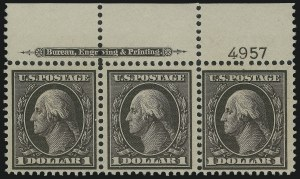 Sale Number 905, Lot Number 2397, 1908-09 Washington-Franklin Issues (Scott 331 thru 356)$1.00 Violet Brown (342), $1.00 Violet Brown (342)