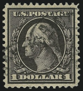 Sale Number 905, Lot Number 2398, 1908-09 Washington-Franklin Issues (Scott 331 thru 356)$1.00 Violet Brown (342), $1.00 Violet Brown (342)