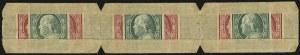 Sale Number 905, Lot Number 2402, 1908-09 Washington-Franklin Issues (Scott 331 thru 356)U.S. Automatic Vending Co., 1c, 2c Manila Pocket, Ty. 4-1, U.S. Automatic Vending Co., 1c, 2c Manila Pocket, Ty. 4-1