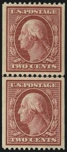 Sale Number 905, Lot Number 2410, 1908-09 Washington-Franklin Issues (Scott 331 thru 356)2c Carmine, Coil (349), 2c Carmine, Coil (349)
