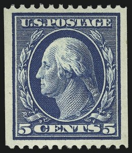 Sale Number 905, Lot Number 2418, 1908-09 Washington-Franklin Issues (Scott 331 thru 356)5c Blue, Coil (351), 5c Blue, Coil (351)