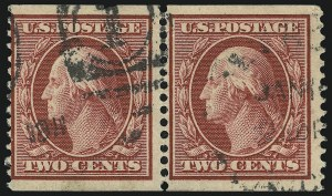 Sale Number 905, Lot Number 2423, 1908-09 Washington-Franklin Issues (Scott 331 thru 356)2c Carmine, Coil (353), 2c Carmine, Coil (353)