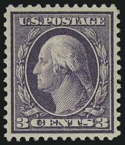 Sale Number 905, Lot Number 2436, Washington-Franklin Issues (Bluish Paper)3c Deep Violet, Bluish (359), 3c Deep Violet, Bluish (359)