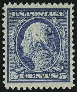 Sale Number 905, Lot Number 2439, Washington-Franklin Issues (Bluish Paper)5c Blue, Bluish (361), 5c Blue, Bluish (361)