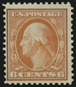 Sale Number 905, Lot Number 2443, Washington-Franklin Issues (Bluish Paper)6c Red Orange, Bluish (362), 6c Red Orange, Bluish (362)