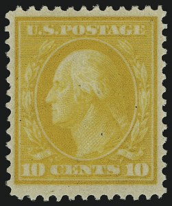 Sale Number 905, Lot Number 2444, Washington-Franklin Issues (Bluish Paper)10c Yellow, Bluish (364), 10c Yellow, Bluish (364)