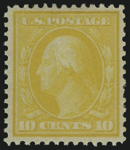 Sale Number 905, Lot Number 2445, Washington-Franklin Issues (Bluish Paper)10c Yellow, Bluish (364), 10c Yellow, Bluish (364)