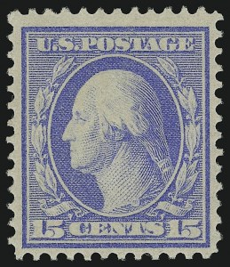Sale Number 905, Lot Number 2450, Washington-Franklin Issues (Bluish Paper)15c Pale Ultramarine, Bluish (366), 15c Pale Ultramarine, Bluish (366)