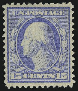 Sale Number 905, Lot Number 2451, Washington-Franklin Issues (Bluish Paper)15c Pale Ultramarine, Bluish (366), 15c Pale Ultramarine, Bluish (366)