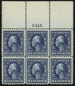 Sale Number 905, Lot Number 2464, Washington-Franklin Issues (Scott 367 to 396)5c Blue (378), 5c Blue (378)