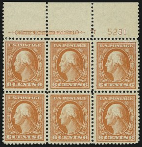 Sale Number 905, Lot Number 2465, Washington-Franklin Issues (Scott 367 to 396)6c Red Orange (379), 6c Red Orange (379)