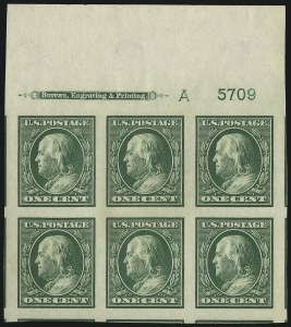 Sale Number 905, Lot Number 2468, Washington-Franklin Issues (Scott 367 to 396)1c Green, Imperforate (383), 1c Green, Imperforate (383)