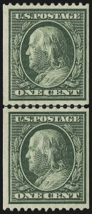 Sale Number 905, Lot Number 2470, Washington-Franklin Issues (Scott 367 to 396)1c Green, Coil (385), 1c Green, Coil (385)