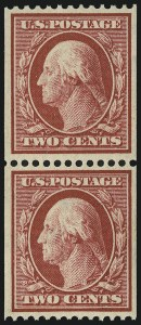 Sale Number 905, Lot Number 2474, Washington-Franklin Issues (Scott 367 to 396)2c Carmine, Coil (386), 2c Carmine, Coil (386)
