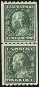 Sale Number 905, Lot Number 2479, Washington-Franklin Issues (Scott 367 to 396)1c Green, Coil (390), 1c Green, Coil (390)
