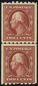 Sale Number 905, Lot Number 2481, Washington-Franklin Issues (Scott 367 to 396)2c Carmine, Coil (391), 2c Carmine, Coil (391)