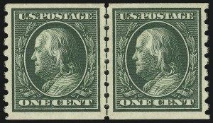 Sale Number 905, Lot Number 2483, Washington-Franklin Issues (Scott 367 to 396)1c Green, Coil (392), 1c Green, Coil (392)