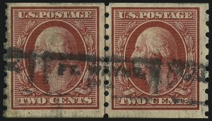 Sale Number 905, Lot Number 2486, Washington-Franklin Issues (Scott 367 to 396)2c Carmine, Coil (393), 2c Carmine, Coil (393)