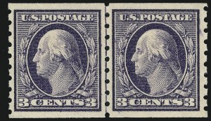Sale Number 905, Lot Number 2487, Washington-Franklin Issues (Scott 367 to 396)3c Deep Violet, Coil (394), 3c Deep Violet, Coil (394)