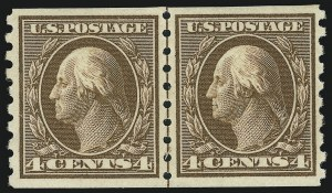 Sale Number 905, Lot Number 2493, Washington-Franklin Issues (Scott 367 to 396)4c Brown, Coil (395), 4c Brown, Coil (395)