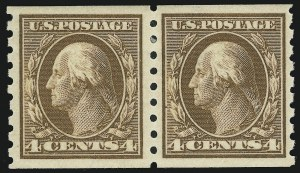 Sale Number 905, Lot Number 2494, Washington-Franklin Issues (Scott 367 to 396)4c Brown, Coil (395), 4c Brown, Coil (395)