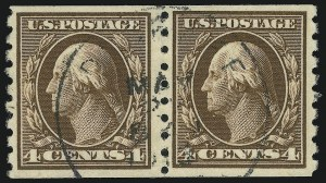 Sale Number 905, Lot Number 2495, Washington-Franklin Issues (Scott 367 to 396)4c Brown, Coil (395), 4c Brown, Coil (395)