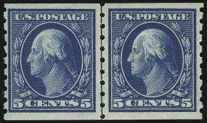 Sale Number 905, Lot Number 2497, Washington-Franklin Issues (Scott 367 to 396)5c Blue, Coil (396), 5c Blue, Coil (396)