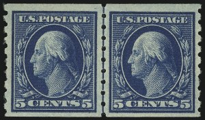 Sale Number 905, Lot Number 2499, Washington-Franklin Issues (Scott 367 to 396)5c Blue, Coil (396), 5c Blue, Coil (396)