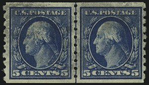 Sale Number 905, Lot Number 2500, Washington-Franklin Issues (Scott 367 to 396)5c Blue, Coil (396), 5c Blue, Coil (396)
