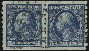 Sale Number 905, Lot Number 2501, Washington-Franklin Issues (Scott 367 to 396)5c Blue, Coil (396), 5c Blue, Coil (396)
