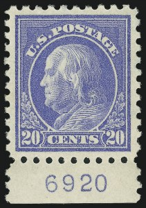 Sale Number 905, Lot Number 2578, Washington-Franklin Issues (Scott 424 to 458)20c Ultramarine (438), 20c Ultramarine (438)