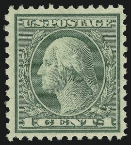 Sale Number 905, Lot Number 2745, 1918-20 Issue (Scott 523 to 550)1c Green, Rotary (545), 1c Green, Rotary (545)