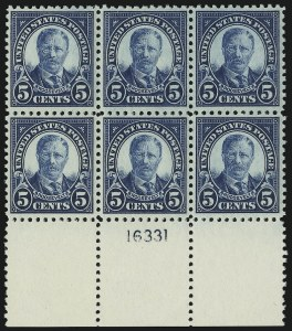 Sale Number 905, Lot Number 2757, 1922-25 Issue (Scott 551 to Later Issues)5c Dark Blue (557), 5c Dark Blue (557)