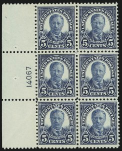 Sale Number 905, Lot Number 2758, 1922-25 Issue (Scott 551 to Later Issues)5c Dark Blue (557), 5c Dark Blue (557)