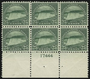 Sale Number 905, Lot Number 2762, 1922-25 Issue (Scott 551 to Later Issues)25c Yellow Green (568), 25c Yellow Green (568)