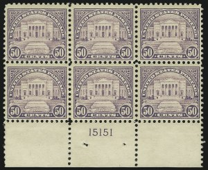 Sale Number 905, Lot Number 2763, 1922-25 Issue (Scott 551 to Later Issues)50c Lilac (570), 50c Lilac (570)
