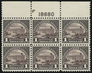 Sale Number 905, Lot Number 2764, 1922-25 Issue (Scott 551 to Later Issues)$1.00 Violet Black (571), $1.00 Violet Black (571)