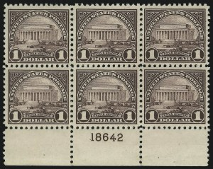 Sale Number 905, Lot Number 2765, 1922-25 Issue (Scott 551 to Later Issues)$1.00 Violet Black (571), $1.00 Violet Black (571)
