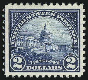 Sale Number 905, Lot Number 2766, 1922-25 Issue (Scott 551 to Later Issues)$2.00 Deep Blue (572), $2.00 Deep Blue (572)