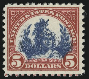 Sale Number 905, Lot Number 2767, 1922-25 Issue (Scott 551 to Later Issues)$5.00 Carmine & Blue (573), $5.00 Carmine & Blue (573)