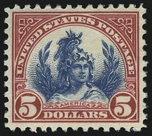 Sale Number 905, Lot Number 2768, 1922-25 Issue (Scott 551 to Later Issues)$5.00 Carmine & Blue (573), $5.00 Carmine & Blue (573)