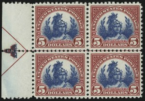 Sale Number 905, Lot Number 2770, 1922-25 Issue (Scott 551 to Later Issues)$5.00 Carmine & Blue (573), $5.00 Carmine & Blue (573)