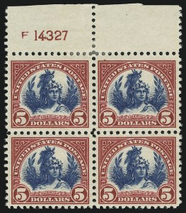 Sale Number 905, Lot Number 2773, 1922-25 Issue (Scott 551 to Later Issues)$5.00 Carmine & Blue (573), $5.00 Carmine & Blue (573)