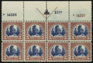 Sale Number 905, Lot Number 2774, 1922-25 Issue (Scott 551 to Later Issues)$5.00 Carmine & Blue (573), $5.00 Carmine & Blue (573)
