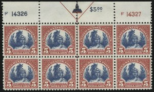 Sale Number 905, Lot Number 2775, 1922-25 Issue (Scott 551 to Later Issues)$5.00 Carmine & Blue (573), $5.00 Carmine & Blue (573)