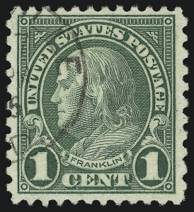 Sale Number 905, Lot Number 2776, 1922-25 Issue (Scott 551 to Later Issues)1c Green, Rotary (578), 1c Green, Rotary (578)