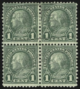 Sale Number 905, Lot Number 2777, 1922-25 Issue (Scott 551 to Later Issues)1c Green, Rotary (578), 1c Green, Rotary (578)