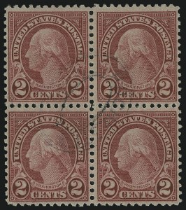 Sale Number 905, Lot Number 2788, 1922-25 Issue (Scott 551 to Later Issues)2c Carmine, Rotary, Perf 11 (595), 2c Carmine, Rotary, Perf 11 (595)