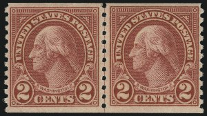 Sale Number 905, Lot Number 2794, 1922-25 Issue (Scott 551 to Later Issues)2c Carmine, Ty. II, Coil (599A), 2c Carmine, Ty. II, Coil (599A)